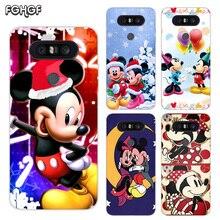Painted Pattern Soft Rubber TPU Case For LG Q8 Q7 Q6 G6 G7 G5 G4 V40 V30 V20 V10 Transparent Cover Christmas Mickey Minnie