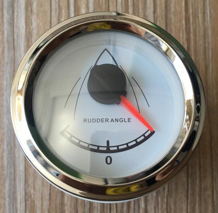 1pc 100% brand new 52mm rudder angle gauges white rudder angle meters with sensor suitable for boat yacht kus marine accessories marine instrumentation rudder angle indicator rudder angle table rudder angle sensor 12v 24v