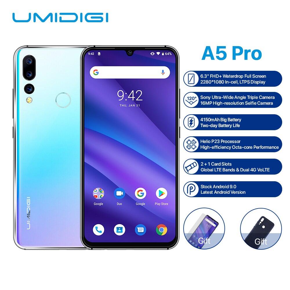 "HTB1cOa2bwFY.1VjSZFnq6AFHXXab UMIDIGI A5 Pro Android 9.0 Octa-core 6.3"" Mobile Phone 16MP Triple Camera 4150mAh 4+32GB Global LTE 4G Fingerprint Smartphone"