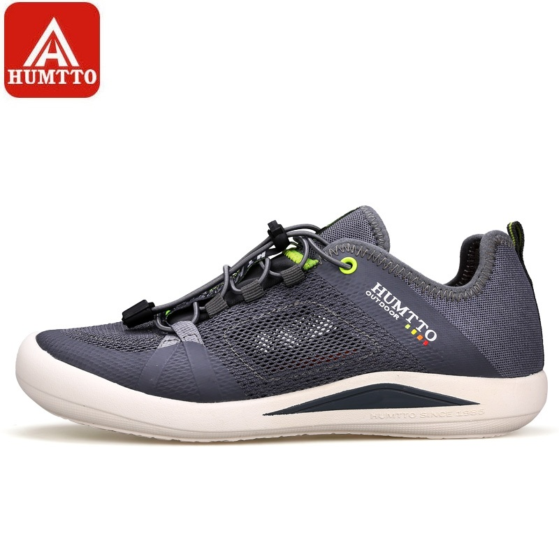 HUMTTO Mens Walking Shoes Summer New Breathable Mesh Outdoor Quick lacing Trekking Shoes Climbing Fishing Non-slip SneakersHUMTTO Mens Walking Shoes Summer New Breathable Mesh Outdoor Quick lacing Trekking Shoes Climbing Fishing Non-slip Sneakers