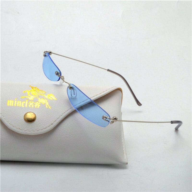 ba6a139aff narrow sunglasses men rimless summer 2018 blue black rectangular purple sun  glasses for women small face hot selling With box NX