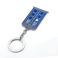 2017 New Doctor Who Keychain Metal Key Ring Holder TARDIS Chaveiro Movie Key Chain Pendant Jewelry