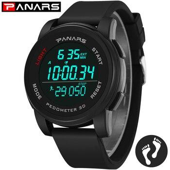 PANARS Smart Watch Men Wristwatch LED Digital Back Light Alarm Waterproof Sport Watch Wrist Watches for Men Relogio Masculino