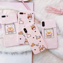 Cute Corgi Butt Animal Puppy Case For iphone Xs MAX Xr X 6 6s 8 7plus back cover Fashion Candy soft TPU phone cases Fundas