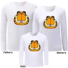 bfbf708a Cute Lazy Garfield Funny Crazy Cat Design Family Day T-shirts Mens Womens  Kids Childs