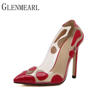 2015 Spring Autumn New Pointed Pumps Catwalk Models Red Gold Silver Fine With High Heels Shoes