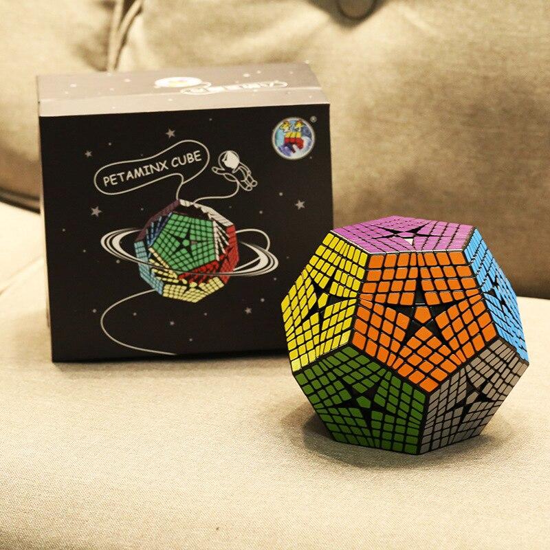 2018 Shengshou Tegaminx Cubo Di Puzzle 12 Facce Professionale 8x8x8 PVC & Matte Adesivi Cubo Di Puzzle Velocità giocattoli Educativi classici - 5