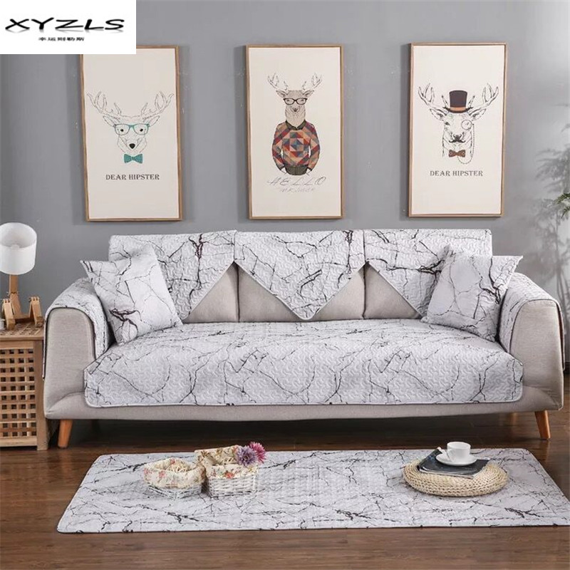Xyzls cotton non slip sofa cover multi size sofa towel - What size couch for my living room ...