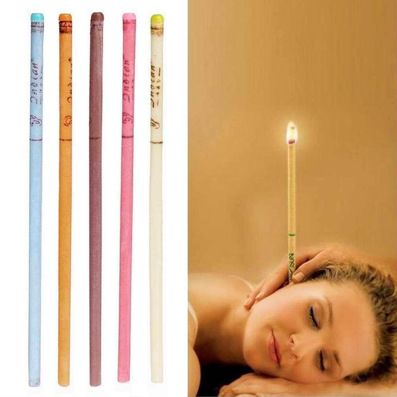 10Pcs/Set Ear Cleaner Wax Removal Ear Candles Treatment Care Healthy Hollow Cone Hot
