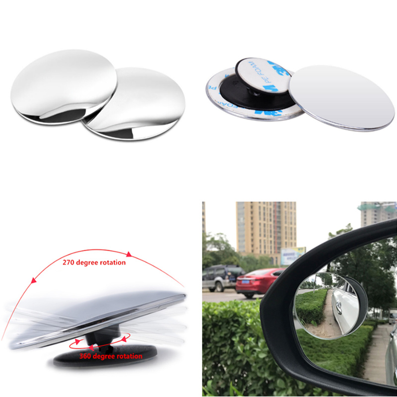 Universal Auto 360 Wide Angle Car Small Round <font><b>Mirror</b></font> for <font><b>Ford</b></font> Focus Kuga Fiesta Ecosport Mondeo Escape <font><b>Explorer</b></font> Edge Mustang image