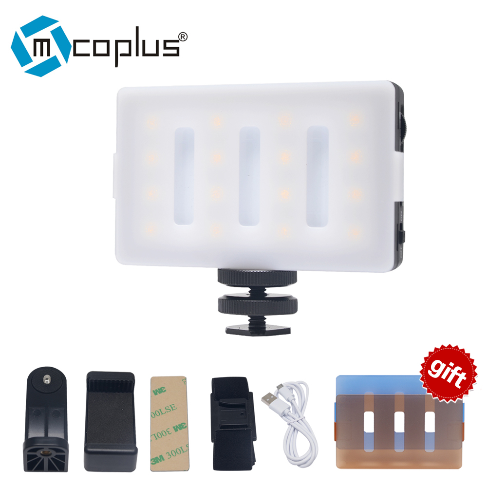 Mcoplus LED16 LED Video Light CRI 95 Built-in lithium-ion battery usb rechargeable for phone Camera DV Camcorder flash сказки тысячи и одной ночи эксклюзивное подарочное издание
