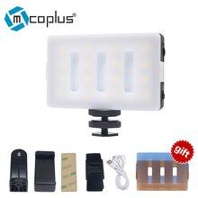 Mcoplus LED16 LED video svítidlo CRI 95 Vestavěná lithium-iontová baterie usb dobíjecí pro telefon Kamera DV Videokamera flash