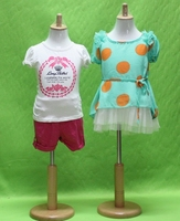 Lovely High Quality Fabric Half Body Baby Display Mannequin With Circular Stand For Clothing Store
