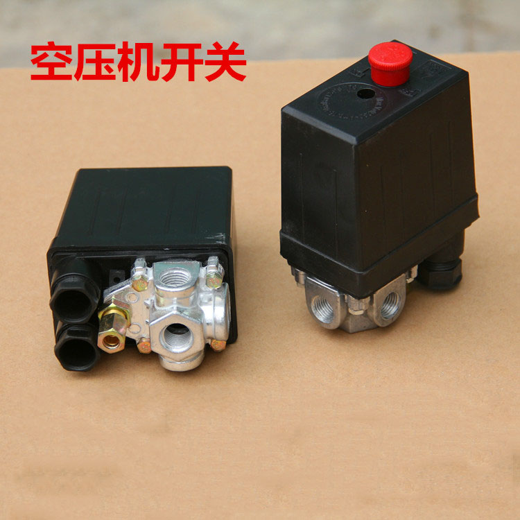 Free shipping High Quality 1 Pcs Heavy Duty Air Compressor Pressure Switch Control Valve 220VAC 90 PSI -120 PSI DropShipping heavy duty air compressor pressure control switch valve 90 120psi 12 bar 20a ac220v 4 port 12 5 x 8 x 5cm promotion price