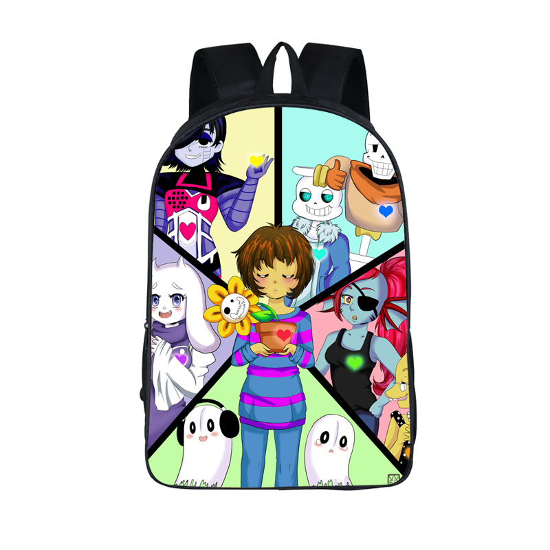 Boys Girls School Bags Undertale Printing Backpack Young Men Women Daily Backpack Children Bookbag Shoulder Backpacks Gift Bag 16 inch anime game of thrones backpack for teenagers boys girls school bags women men travel bag children school backpacks gift