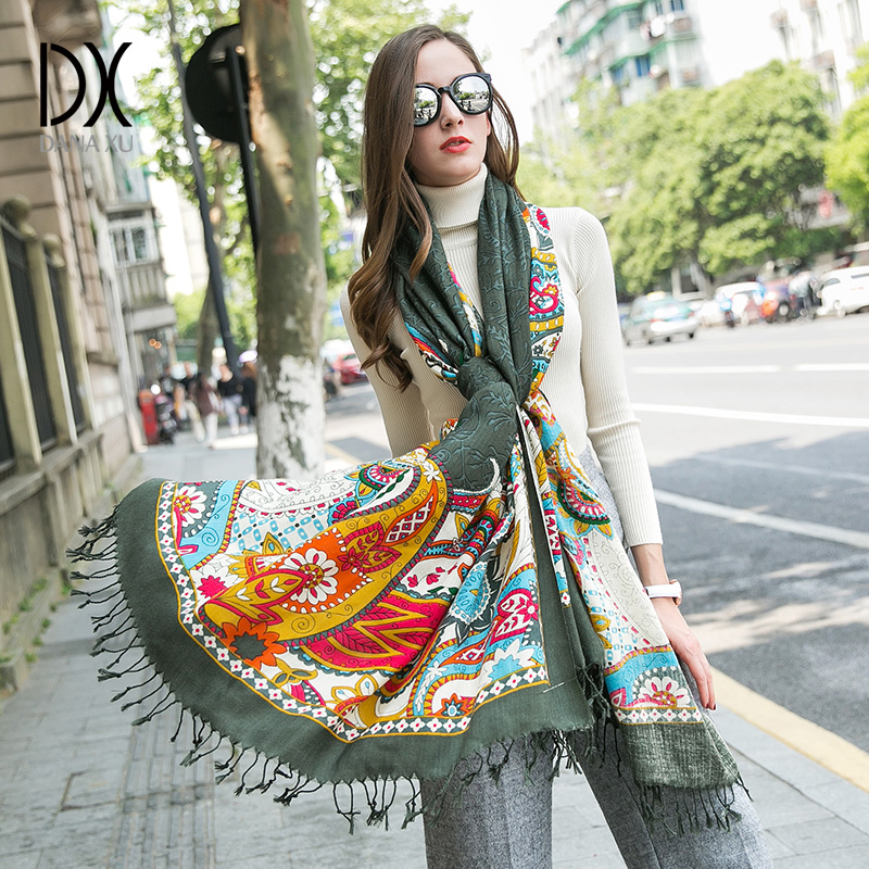 2010 neue mode Winter Schals Wolle Ring Schal Frauen Mode Reine Warme Unisex Neck Woolen Winter Schal Hijab Bandana Poncho