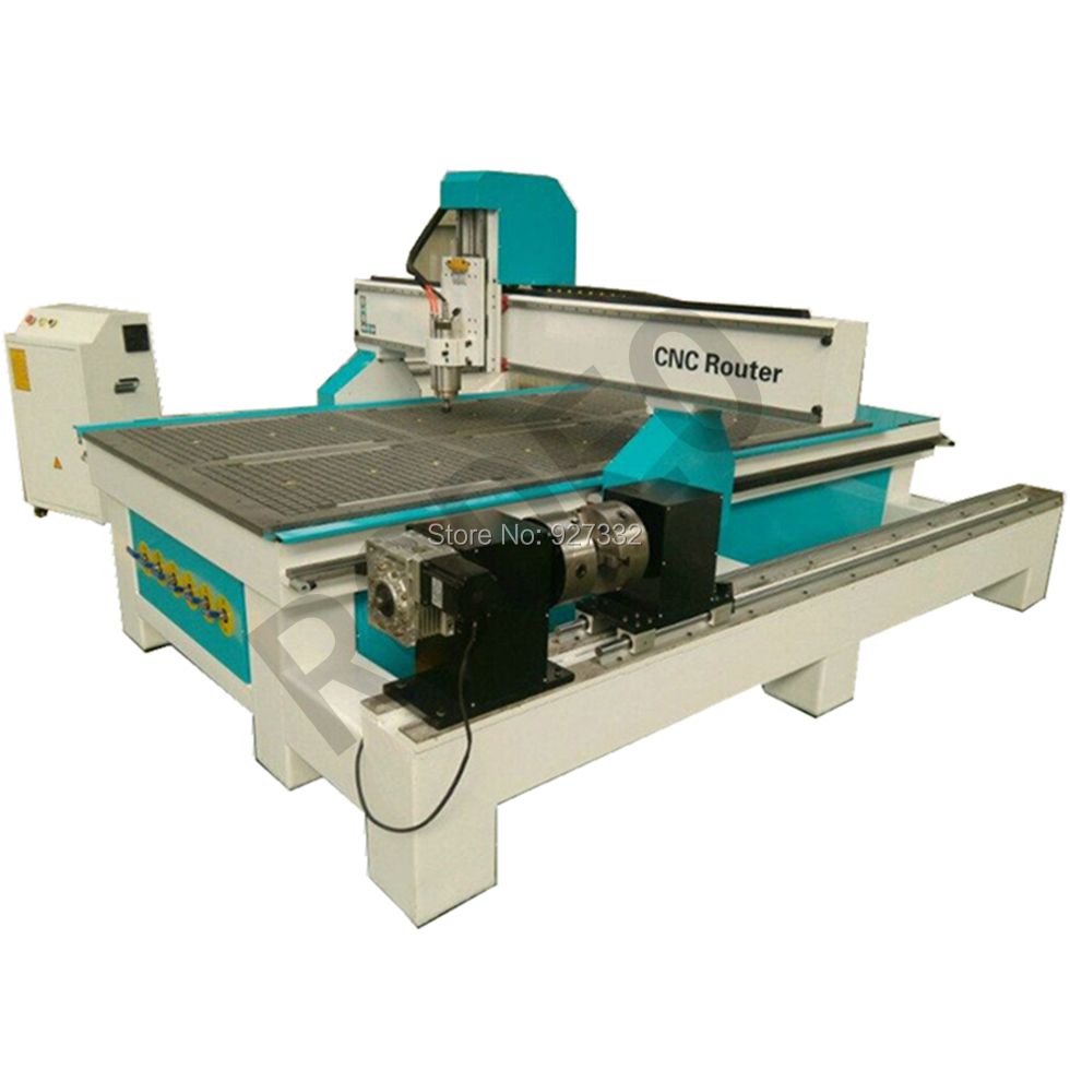 CE ISO Certificate Mach3 Or DSP Control 4x8 Ft Wood Cnc Machine 4th Rotary Axis Cnc Router 1325