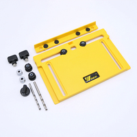 2018 1Set Cabinet Hardware Wood Door Drawer Drilling Guide Adjustable Woodworking Jig Free shipping