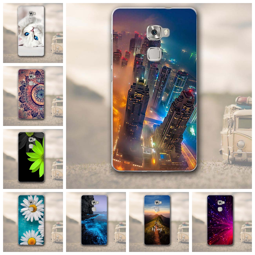 Phone Case for Huawei Mate S Soft Silicon Cover Coque for Huawei Mate S Bags Cover 3D Relief Printing Case for Huawei MateS Capa