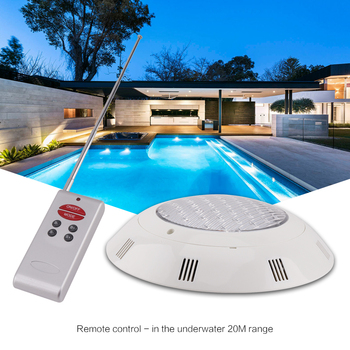 BORUiT LED Swimming pool light IP68 Waterproof RGB Color Remote Control LED Underwater Lights  18W Swimming Pool Fountain