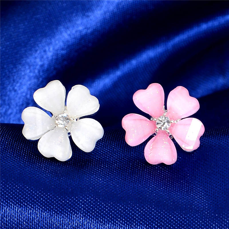 mod earrings stud style flower pin men white mad