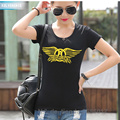 2017 Summer rock band Print T Shirt Halloween Costume T-Shirt Ladies Short Sleeve Hip Hop Tee Shirt Slim Kawaii Women's Clothing