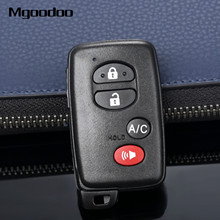 Mgoodoo 3+1 4 Buttons Smart Remote Car Key Shell Case W/ Uncut Blade For Toyota Prius V 2012 2013 Auto Replacement HYQ14AAB