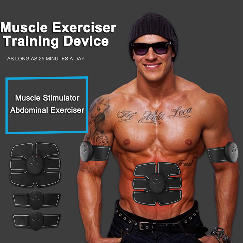 Smart Electric Pulse Treatment Abdominal Muscle Trainer Body Massager 2017 hot sale mini electric massager digital pulse therapy muscle full body massager silver