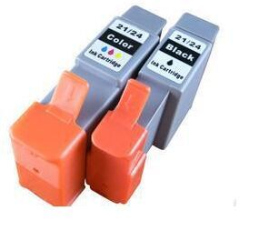 1 Set Black & Color BCI21 BCI24 Ink Cartridge for Canon BCI 21/BCI 24 for Canon i255 i355 i455 i470D MP360 S200SPX Printer