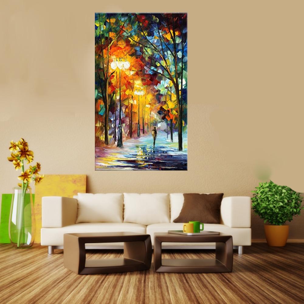 couleur peinture pour salon moderne destin avenue color arbres palette couteau acrylique toile peinture pour - Couleur Peinture Pour Salon Moderne