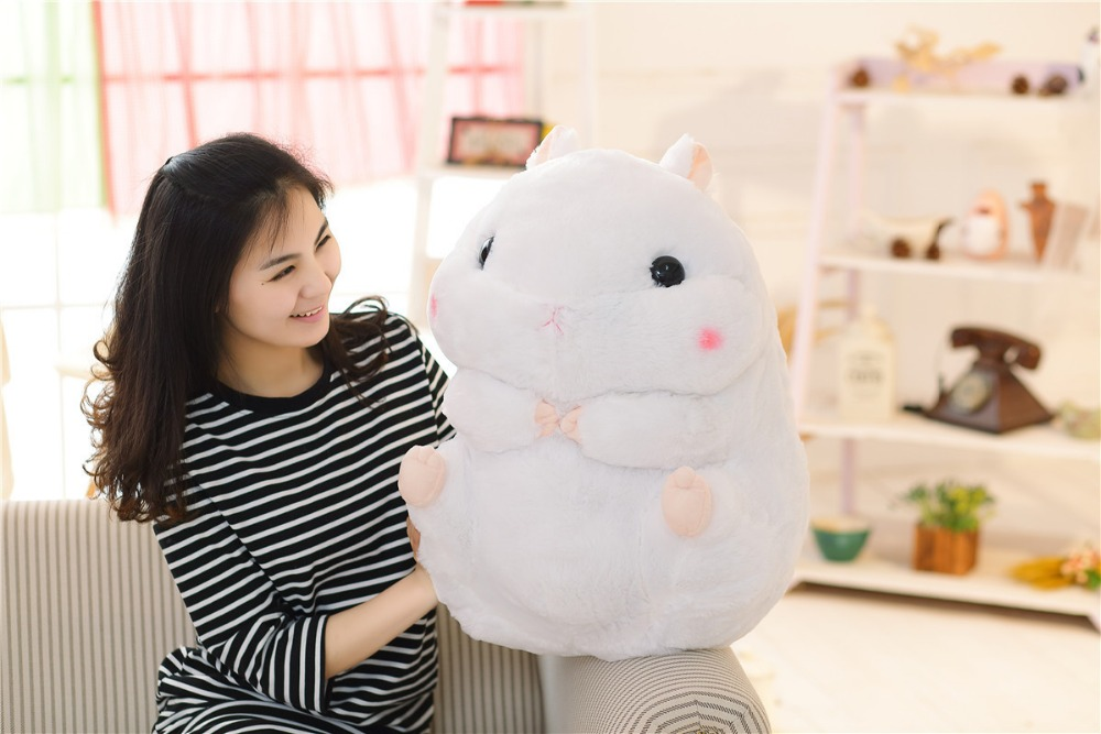new plush fat hamster toy cute white fat hamster doll gift toy about 55cm cute soft simulation toucan bird toy plush blacktoucan toy gift about 25cm