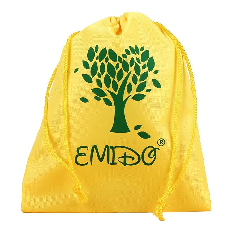 Customized polyester drawstring gifts bag shoe bag for company logo printing
