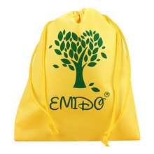 Customized polyester drawstring gifts bag shoe bag for company logo printing