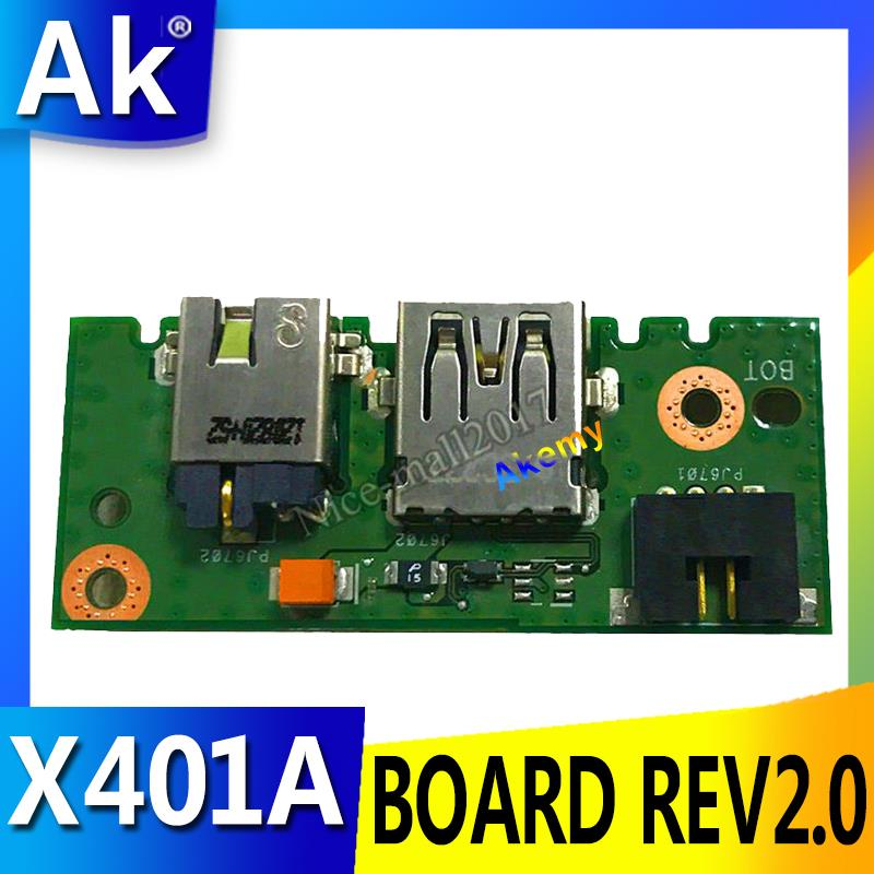 AK X401A_IO BOARD REV2.0 For ASUS X301A X401A X501A Power Board Laptop Audio USB IO Board Interface Board Tested Well