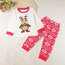 Baby Girls Boys Christmas Print Outfits Set