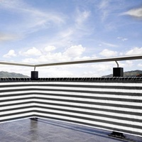 Home Balcony Privacy Screen stripe Fence Deck Shade Sail Yard Cover Anti UV Sunblock Wind Protection kid Safe Protection Screen