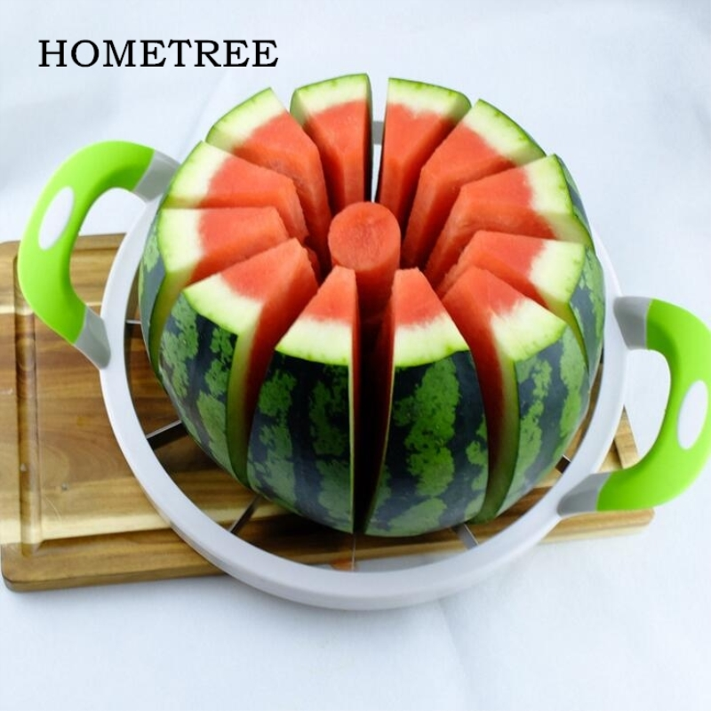 HOMETREE Stainless Steel Cutting Seeder 1PC Large Size Cut Watermelon Slicer Melon Slitters As Seen On TV HOT Cut Fruit Tool H15