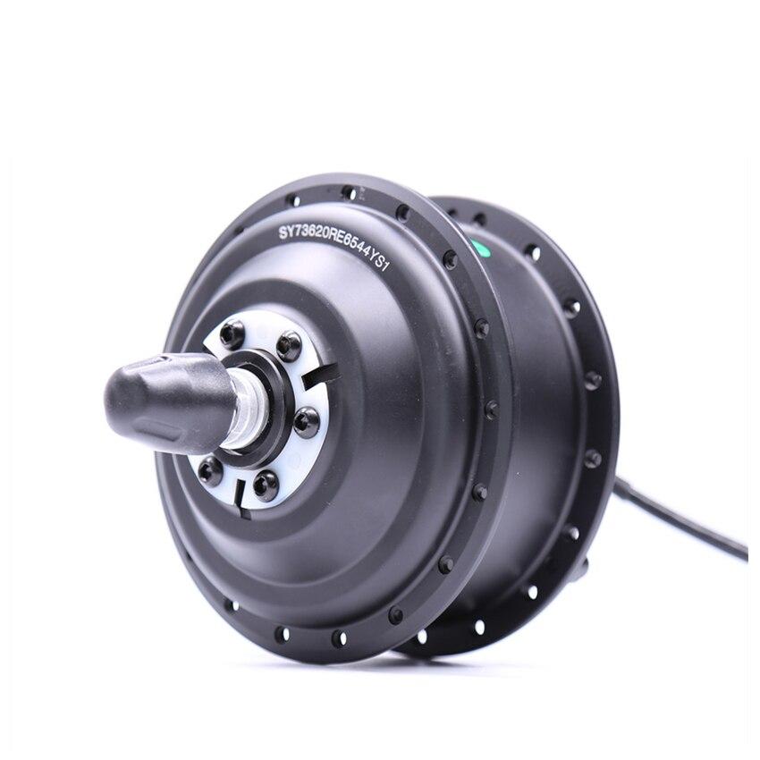 Moteur de moyeu avant noir 36V250W avec frein à disque capteur de vitesse 255 tr/min intégré