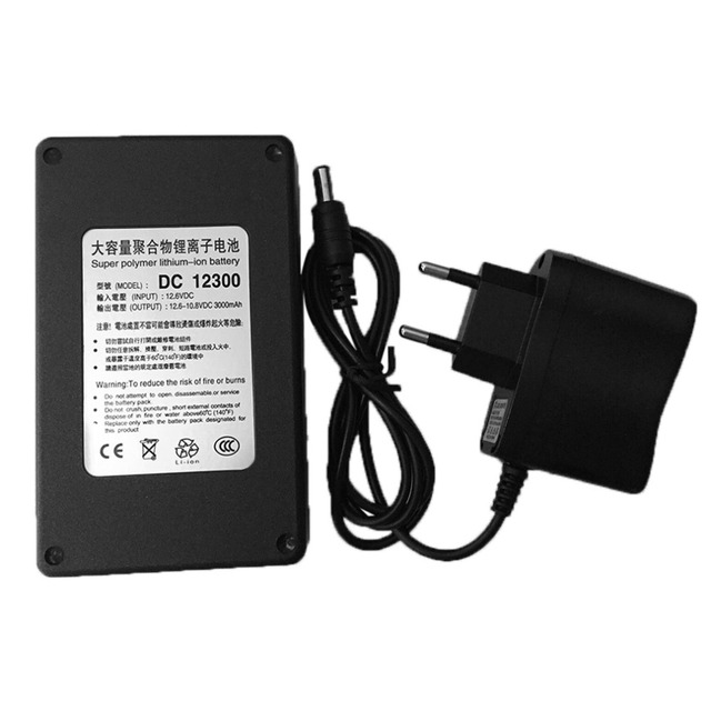 3000mA Super Polymer Lithium Ion Battery Multifunctional 12V Black Plastic Shell Battery Original With EU/US Charger