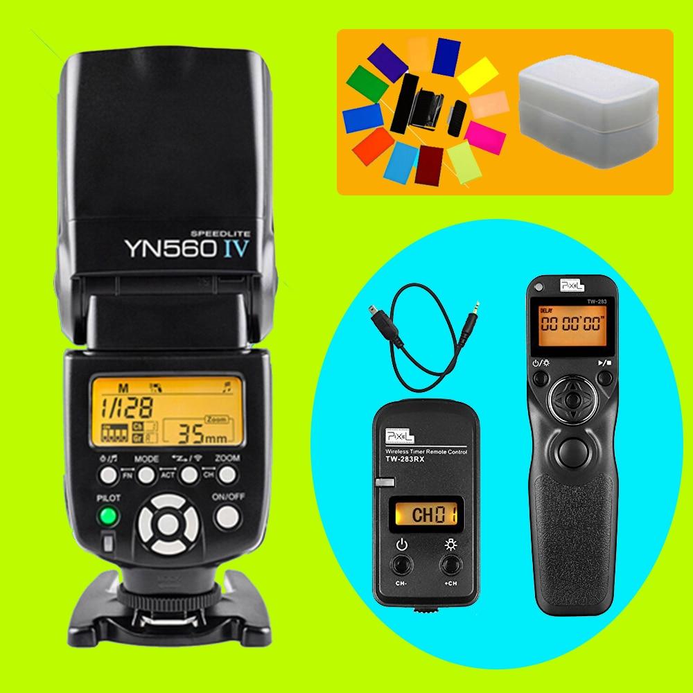 YONGNUO YN560 IV YN-560 IV Flash Speedlite & Pixel TW-283 DC2 Shutter Release For Nikon D5000 D3300 D3200 D3100 D750 D600 D90