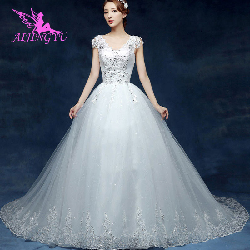 AIJINGYU 2018 ivory free shipping new hot selling cheap ball gown lace up back formal bride