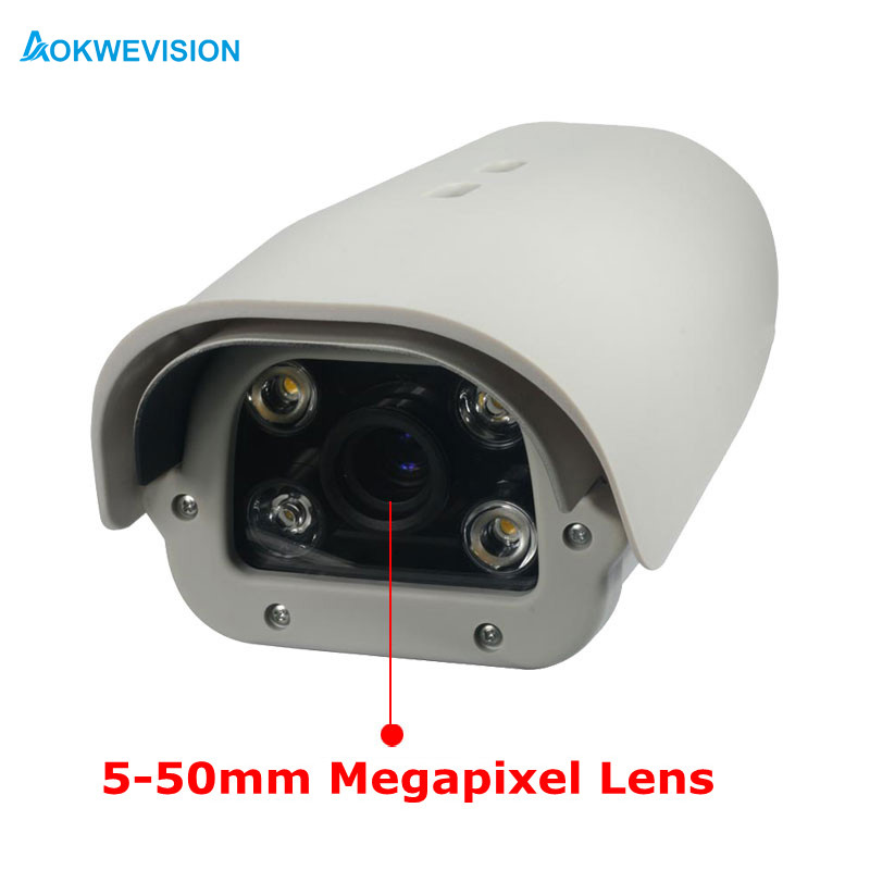 5MP 5-50mm Lens Vehicles  License Number Plate Recognition LPR IP Camera Outdoor For Parking Lot