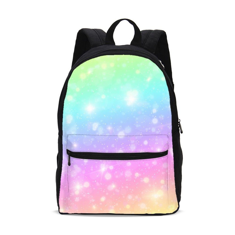 VEEVANV Brand Design Fashion Colorful Rainbow 3D Printing Canvas Backpacks For Women Men Casual Shoulder Bag Travel Backpacks casual style print and canvas design satchel for women