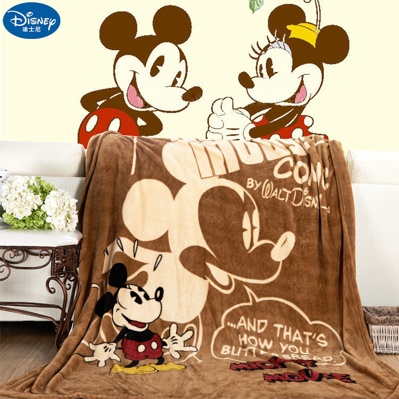 Disney Cartoon Pink Minnie Mickey Mouse Soft Flannel Blanket Throw for Girls Children on Bed Sofa Couch Kids Gift 150X200CM(China)