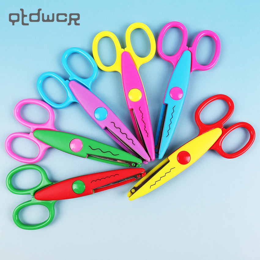 1PC Hot Sell Kids Scissors For DIY Handmade 6 Patterns Laciness Scissors For Photo Album Card Decorative DIY Scissors