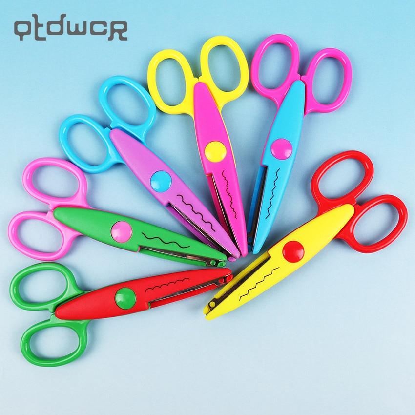 1PC Hot Sell Kids Scissors For DIY Handmade 6 Patterns Laciness Scissors For Photo Album Card Decorative DIY Scissors