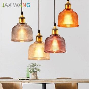 Modern Simple Colorful Glass Pendant Lights Kitchen Dining & Bar E27 Led Hanging Lamp Dinning Bar Restaurant Deco Light Fixture