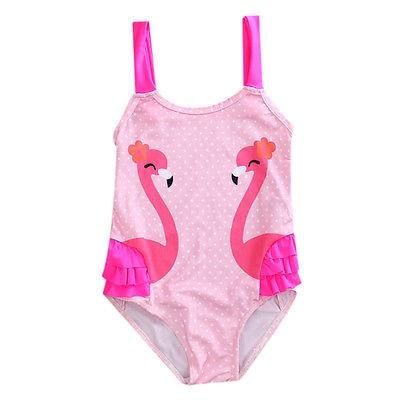 itfabs toddler bambini nuoto costumi neonate sveglio swan bikini costumi da bagno tankini costume da bagno costume da bagno beac
