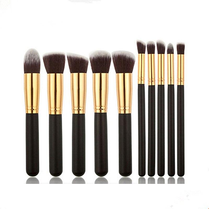 Professional Mini Makeup Brush Set 10pcs High Quality Makeup Tools Kit 10pcs white professional makeup brush set
