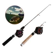 Fishing-Rod Tackle Winter Eva-Handle Ultra-Short Professional Mini 4b/3b-Reels Portable